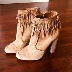 Aquazzura Fringed Booties